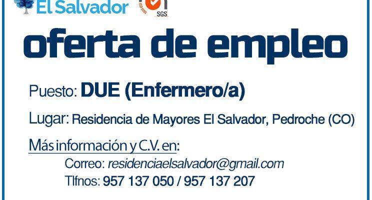 Oferta de empleo: DUE (Enfermero/a)